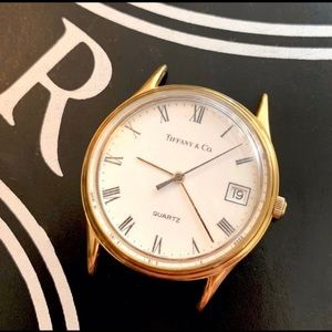 Tiffany & Co. Gold Plated Watch 35mm as is